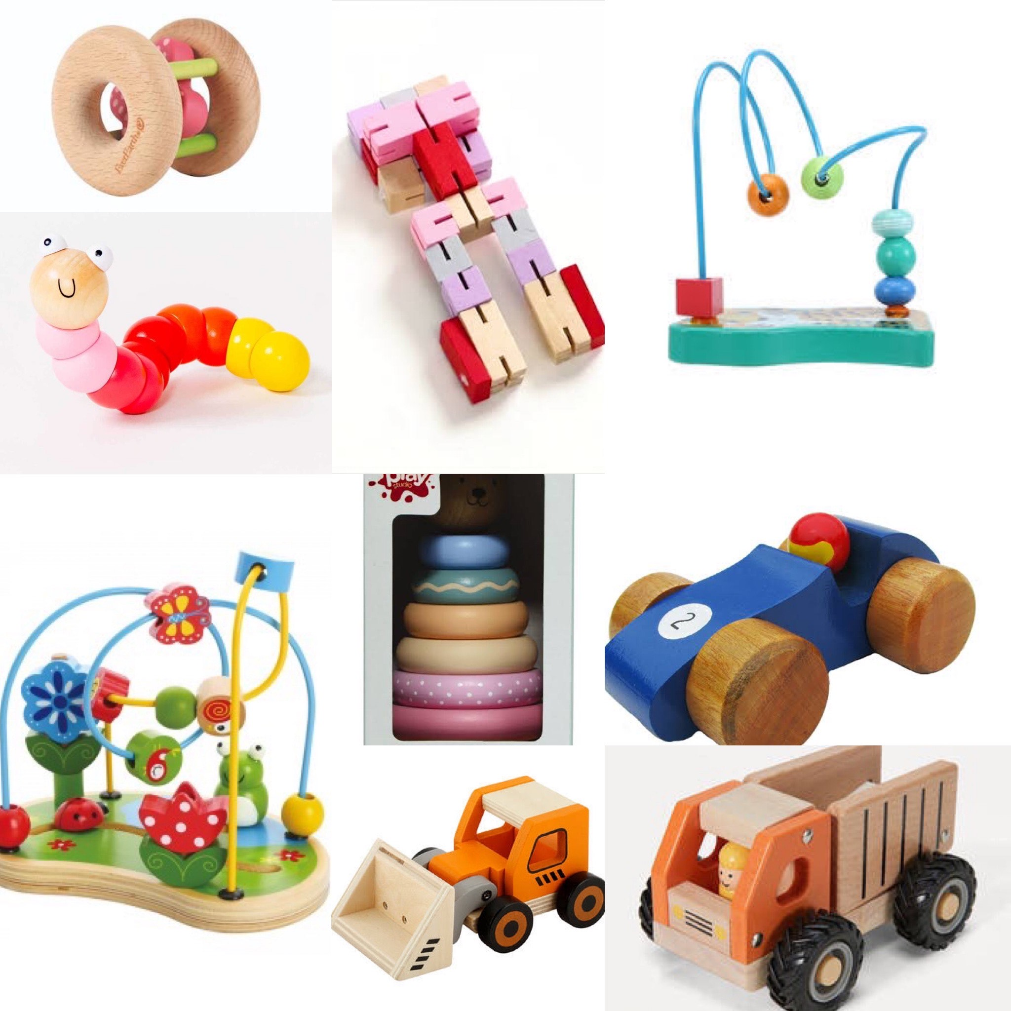 Assorted Wooden Baby Toys photo